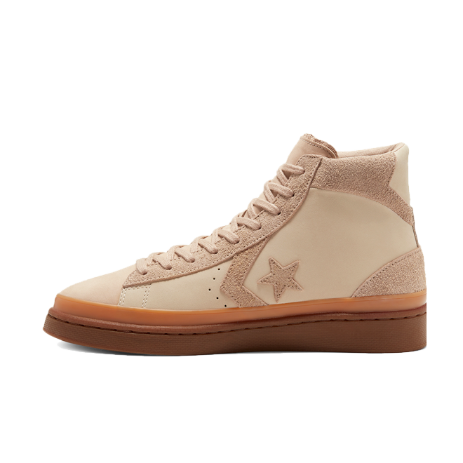 Converse Pro Leather 'Beige' zijaanzicht
