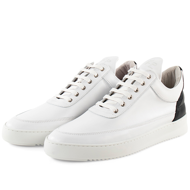 Filling Pieces Low Top Ripple Nappa 'White / Black'