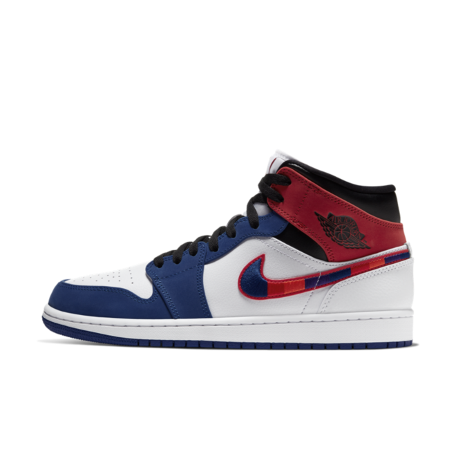 Air Jordan 1 Mid SE 'Blue/Red' zijaanzicht
