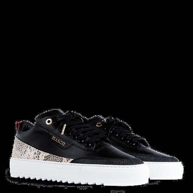 Mason Garments Torino Leather/Python Black