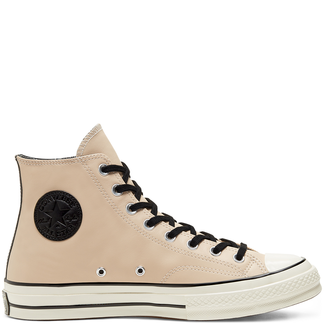 Unisex Leather Side Zip Chuck 70 High Top