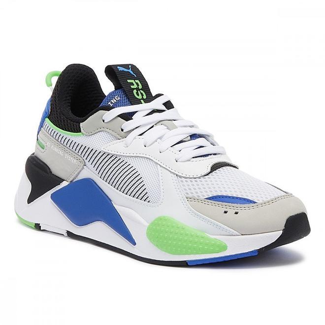PUMA RS-X Toys Weiße / Schwarze / Blaue Herren Sneakers