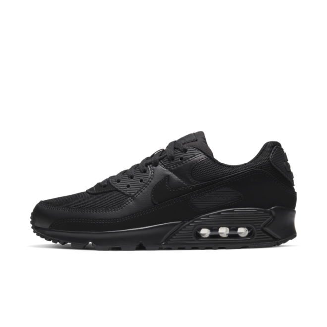 Nike Air Max 90 Re-Craft 'Triple Black' zijaanzicht