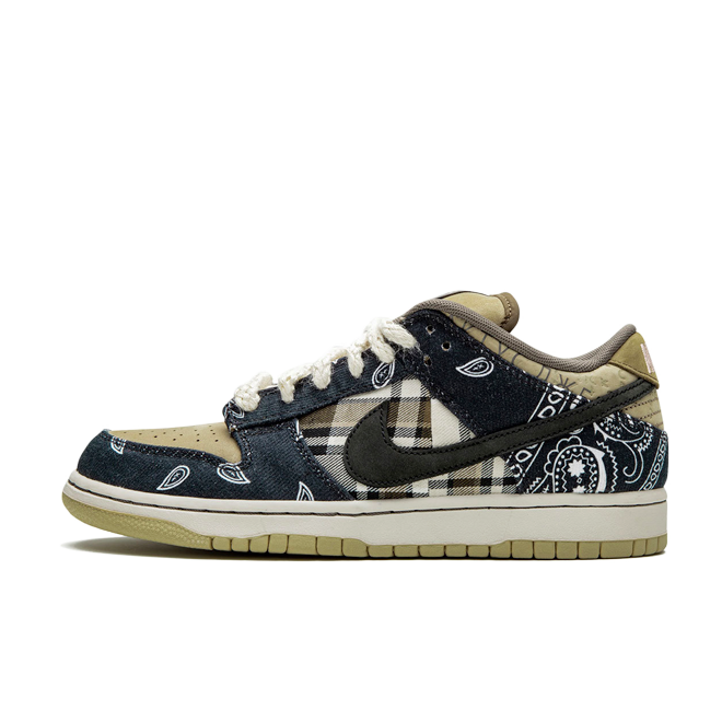 Travis Scott x Nike SB Dunk Low zijaanzicht