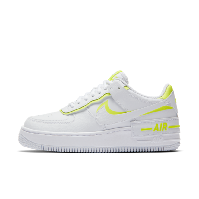 Nike Air Force 1 Shadow 'White/Neon' | CI0919-104 | Sneakerjagers