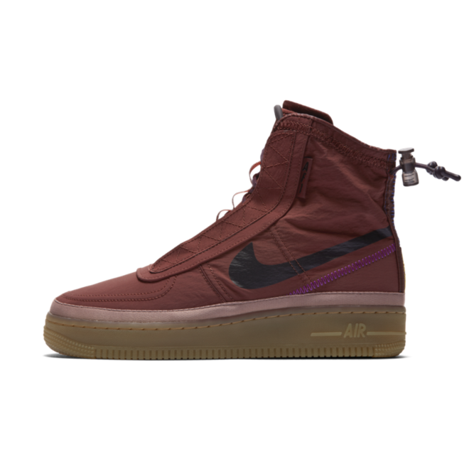 Nike WMNS Air Force 1 Shell 'Burgundy Ash'
