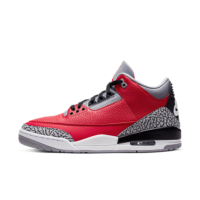 Air Jordan 3 Chicago All-Star 'Red Cement' zijaanzicht