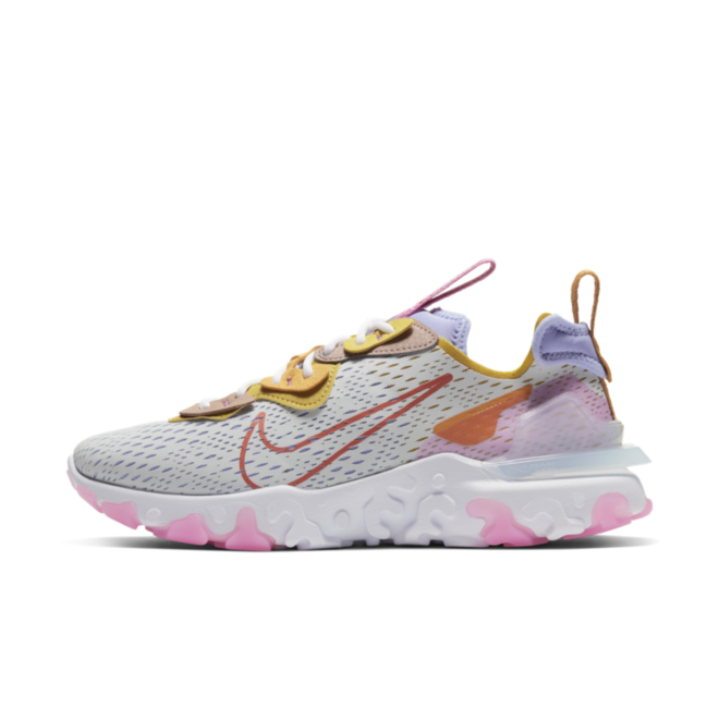 Nike D/MS/X React Vision 'White/Pink' zijaanzicht