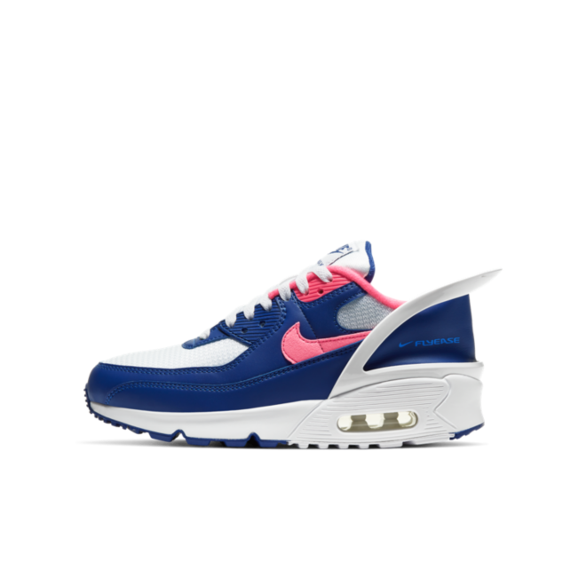 Nike Air Max 90 FlyEase 'Blue' zijaanzicht