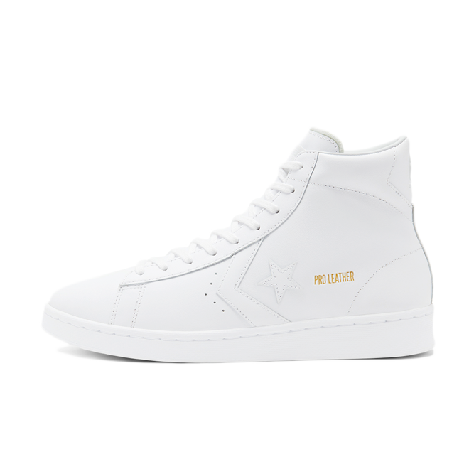Converse Pro Leather Mid 'White' zijaanzicht