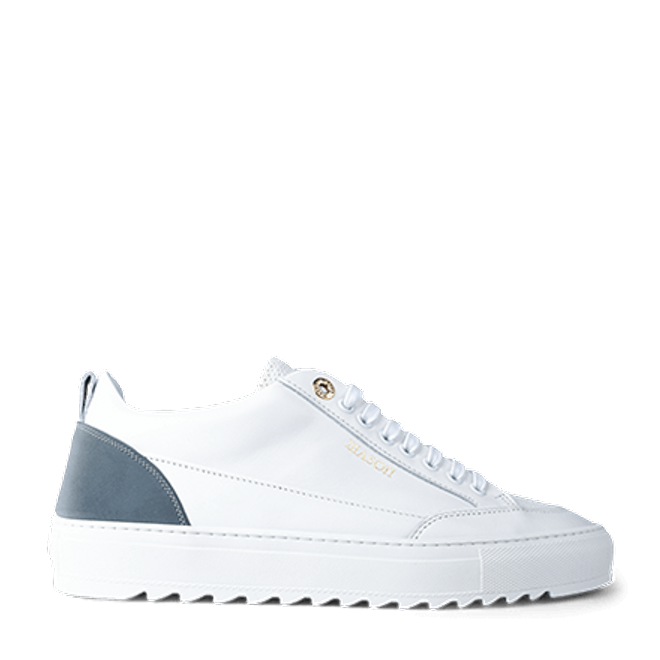 Mason Garments Tia Leather/Reflective/Perforated White/Cement