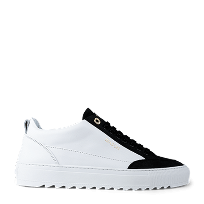 Mason Garments Tia Nubuck/Leather/Perforated White/Black
