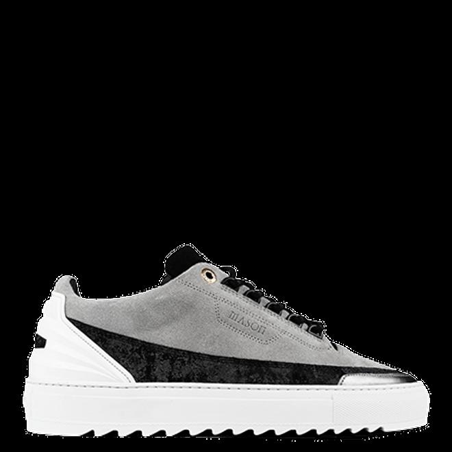 Mason Garments Firenze Suede/Reflective Cement/Black