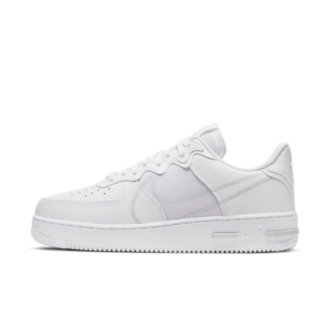 Nike Air Force 1 React 'White' zijaanzicht