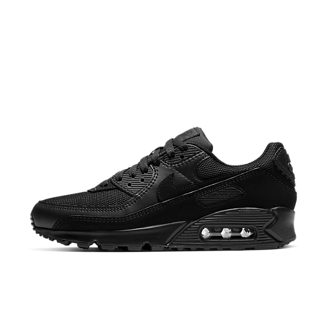 Nike WMNS Air Max 90 Re-Craft 'Triple Black' zijaanzicht