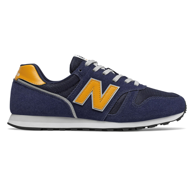 New Balance 373 Mens Navy / Yellow Trainers