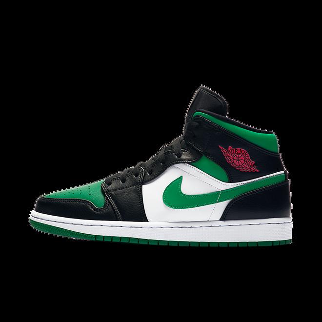 Air Jordan 1 Mid 'Pine Green' zijaanzicht