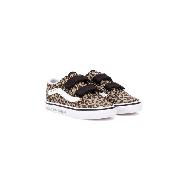 Vans Kids leopard-print touch strap trainers