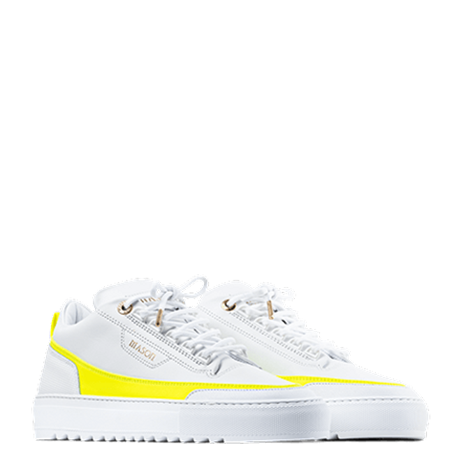 Mason Garments Firenze Leather White / Yellow SS20-14F