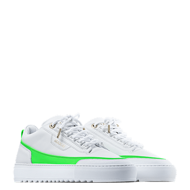 Mason Garments Firenze Leather White / Green SS20-14A