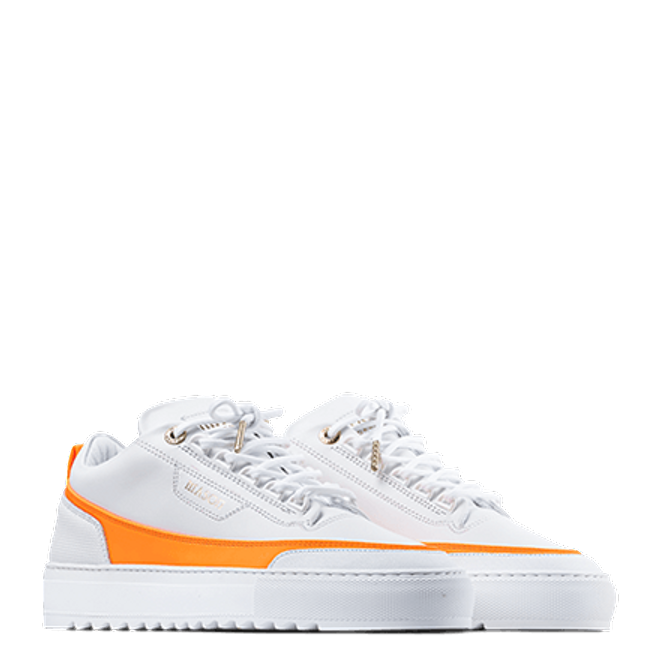 Mason Garments Firenze Leather White / Orange SS20-14D