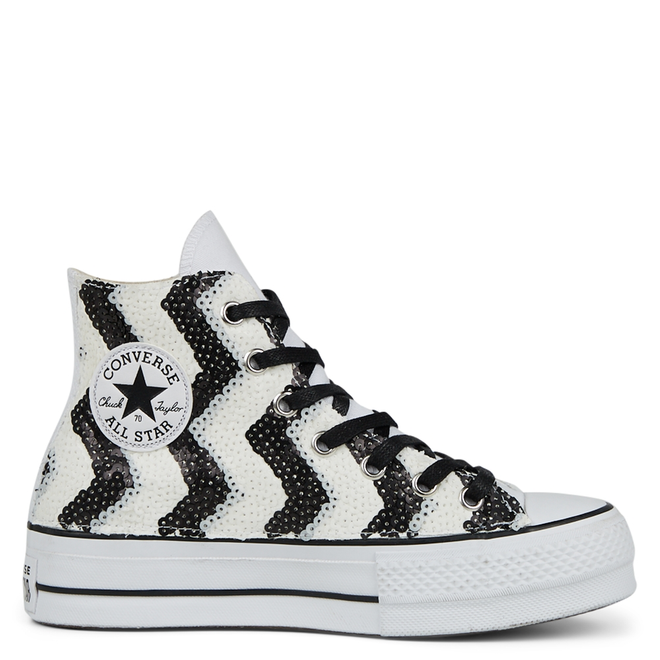 VLTG Sequins Platform Chuck Taylor All Star High Top voor dames