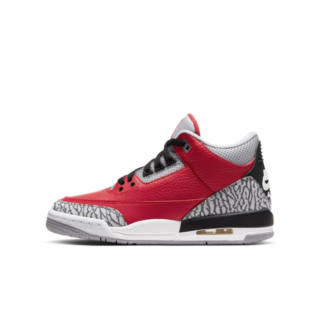 Air Jordan 3 GS Chicago All-Star 'Red Cement' zijaanzicht