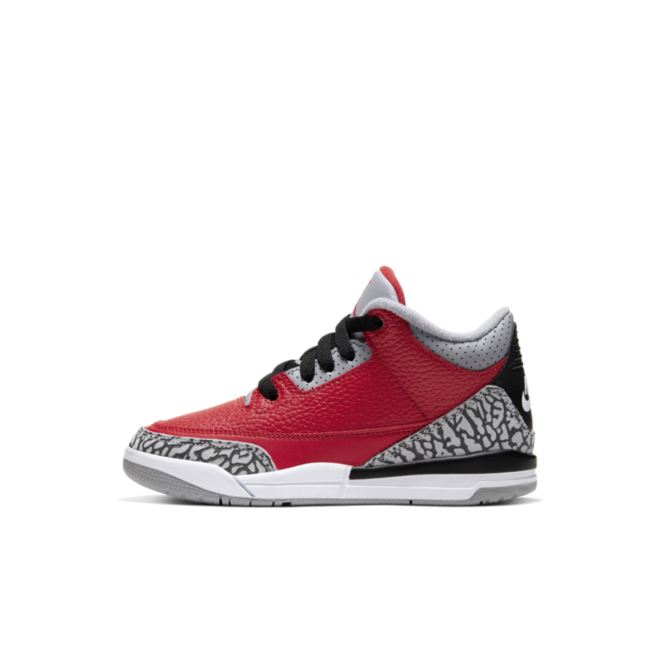 Air Jordan 3 PS Chicago All-Star 'Red Cement' zijaanzicht