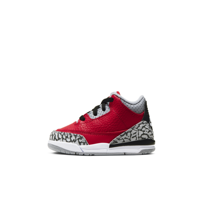 Air Jordan 3 TD Chicago All-Star 'Red Cement' zijaanzicht