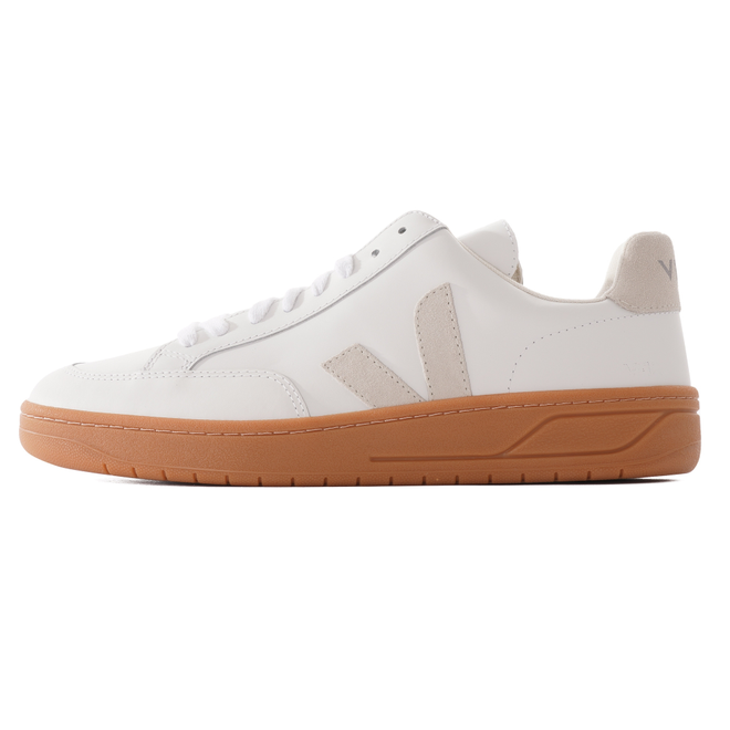 V-12 Leather Natural Sole - Extra White