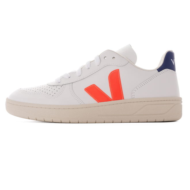 V-10 Leather Womens - White & Orange