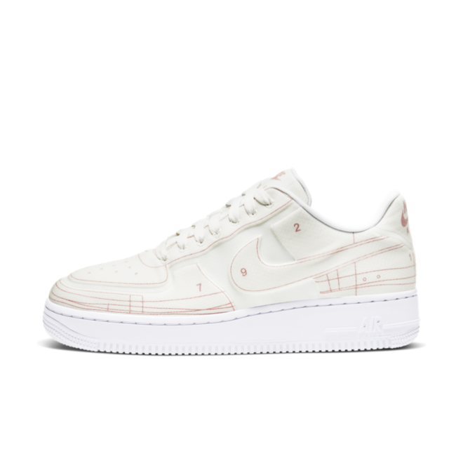 Nike Air Force 1 Blueprint 'White' zijaanzicht