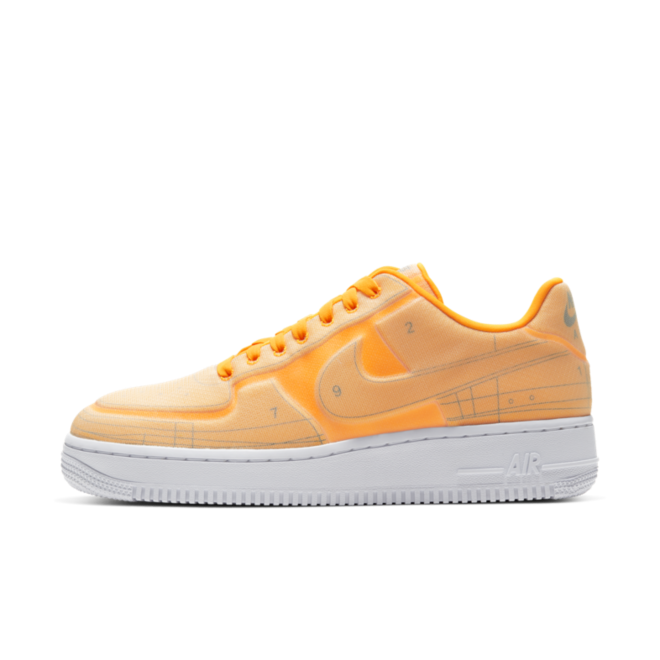 Nike Air Force 1 Blueprint 'Orange' zijaanzicht