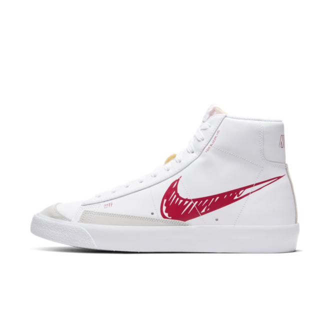 Nike Blazer Mid 77 Sketch 'Red' | CW7580-100 | Sneakerjagers