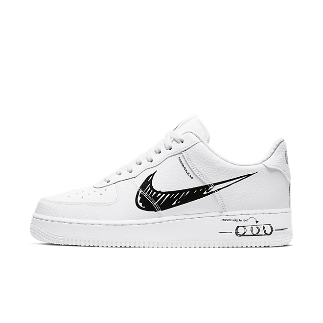 Nike Air Force 1 LV8 Utility Schematic 'White/Black'