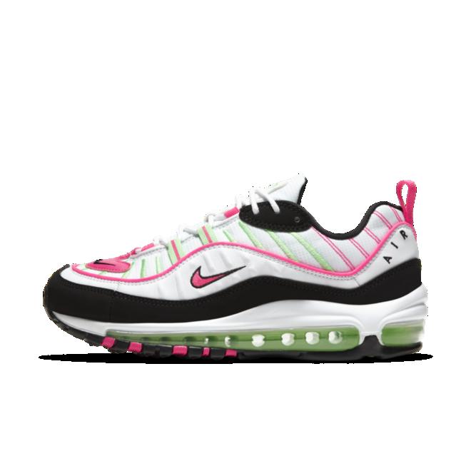 Nike Air Max 98 'Volt/Pink' zijaanzicht