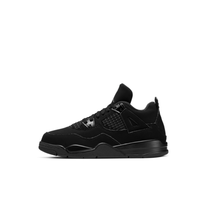 Air Jordan 4 Retro PS 'Black Cat' zijaanzicht