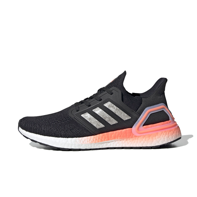 adidas UltraBOOST 2020 'Black/Coral' zijaanzicht