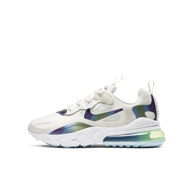 Nike Air max 270 React GS Bubble Pack 'White' zijaanzicht