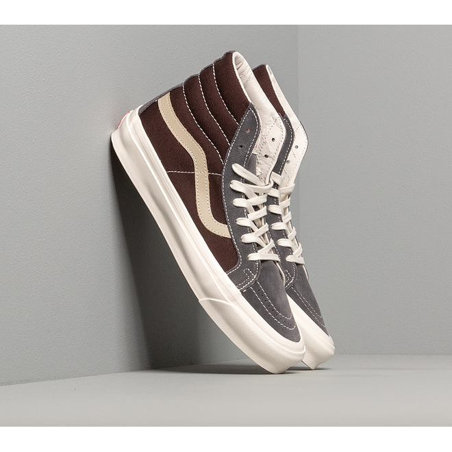 Vans OG Sk8-Hi LX (Suede/ Canvas) Brown/ Grey VN0A4BVBXEO1