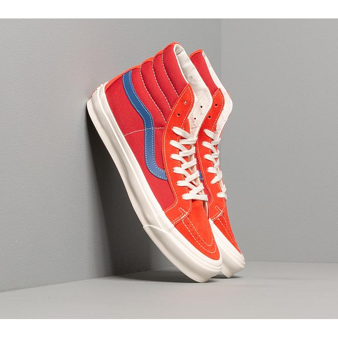 Vans OG Sk8-Hi LX (Suede/ Canvas) Red/ Blue