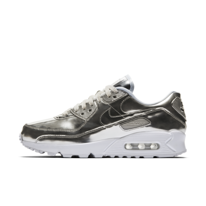 Nike Air Max 90 Metallic Pack 'Silver' zijaanzicht