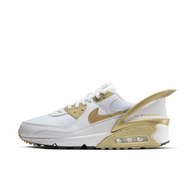 Nike Air Max 90 FlyEase 'Metallic Gold' zijaanzicht