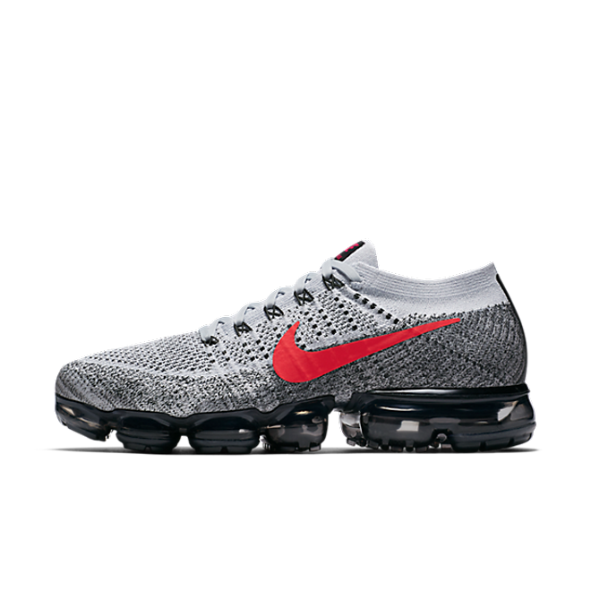 "Nike Air VaporMax Flyknit ""Pure Platinum/University Red"""