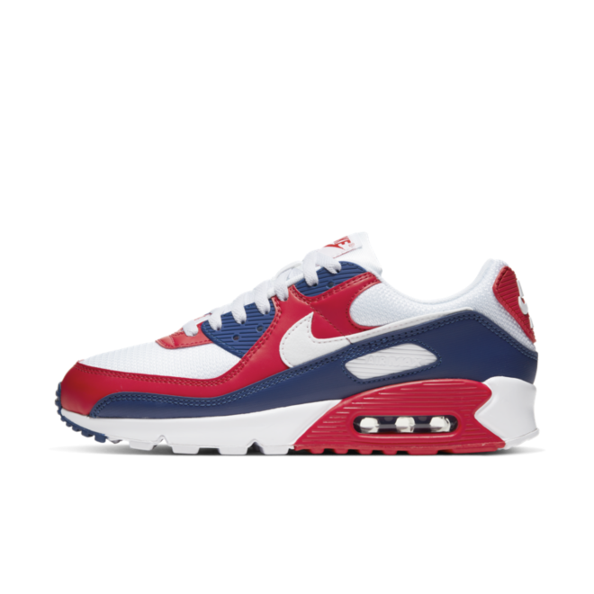 Nike Air Max 90 'Red/Blue' zijaanzicht