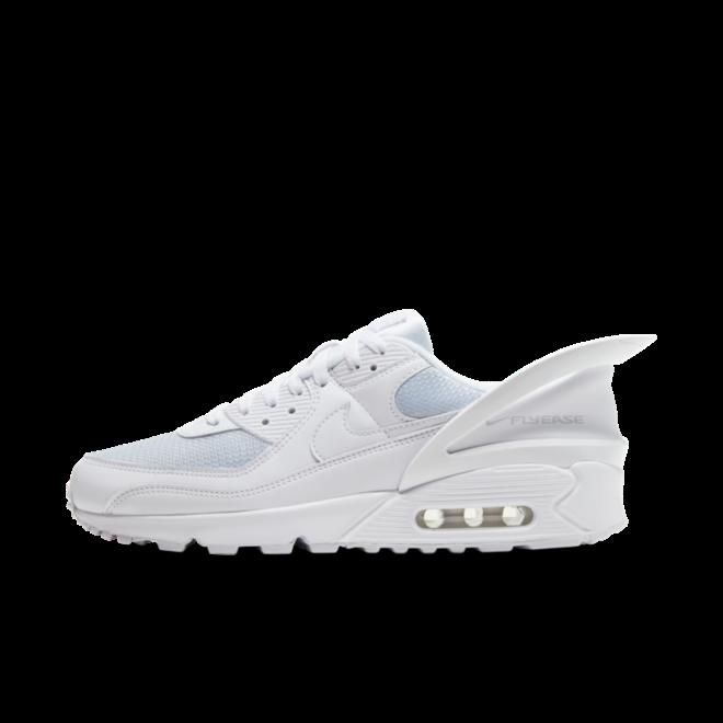 Nike Air Max 90 FlyEase 'Triple White' zijaanzicht