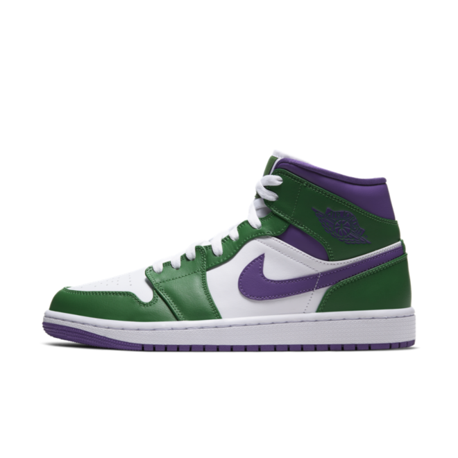 Air Jordan 1 Mid 'Incredible Hulk' zijaanzicht