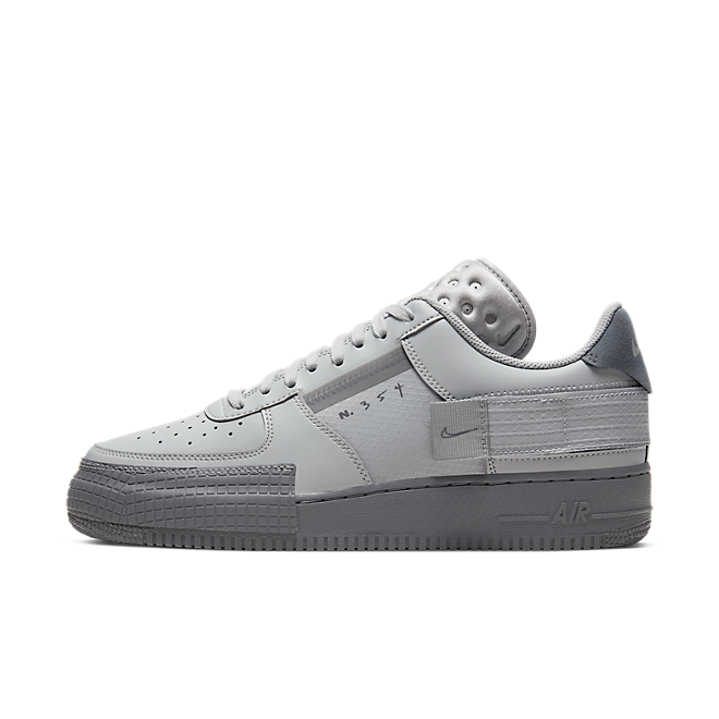Nike Air Force 1 Type 2 'Grey Fog' zijaanzicht