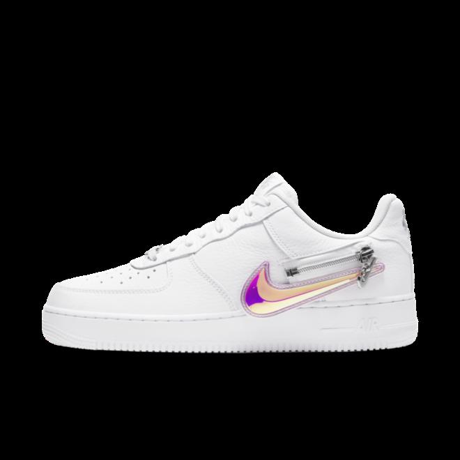 Nike Air Force 1 Zipper Swoosh 'White' zijaanzicht