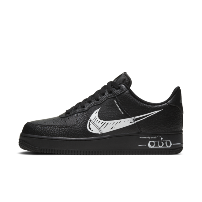 Nike Air Force 1 LV8 Utility Schematic 'Black'